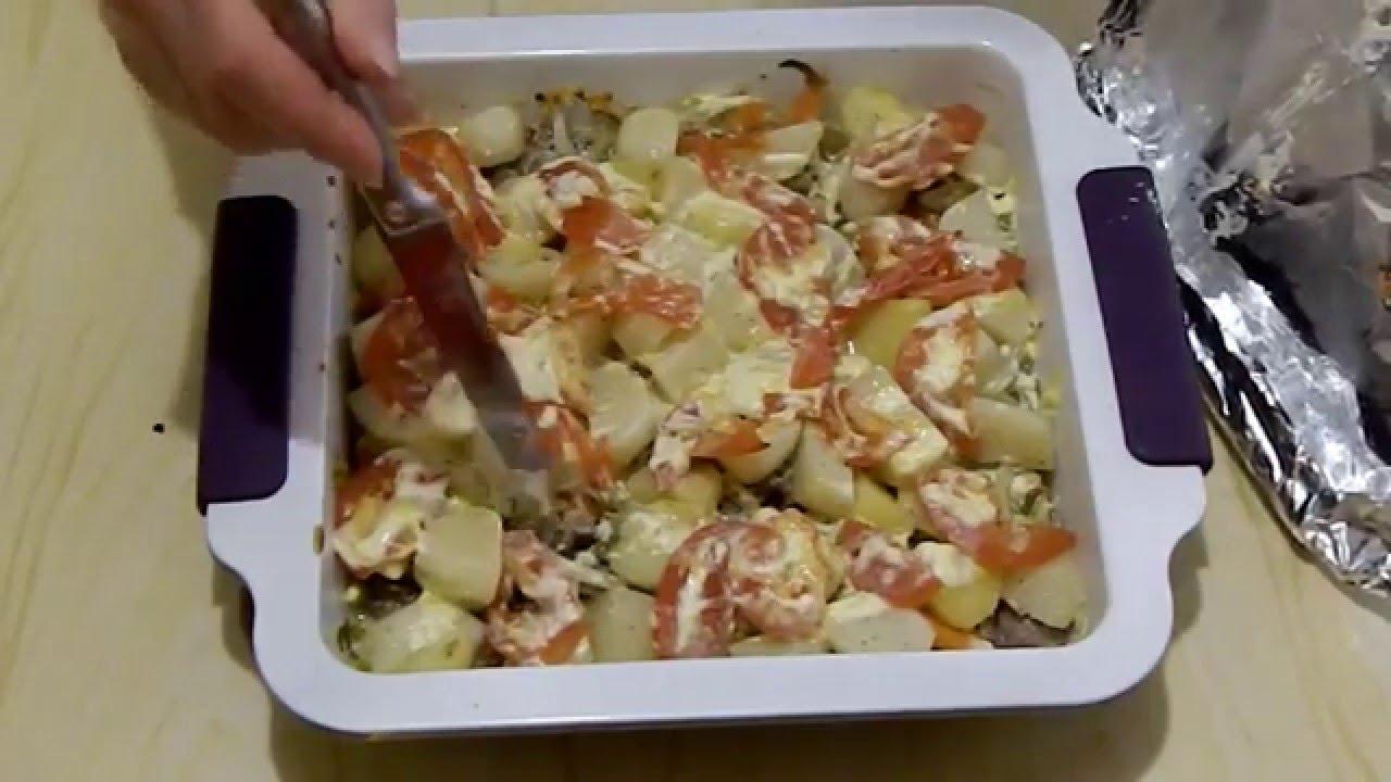 куриные желудки с картошкой в духовке рецепт с фото