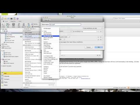 Creating Rules In Outlook 2011 For Mac
