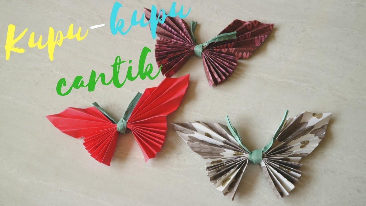 Cara Membuat Origami Kupu Kupu Cantik Dari Kertas