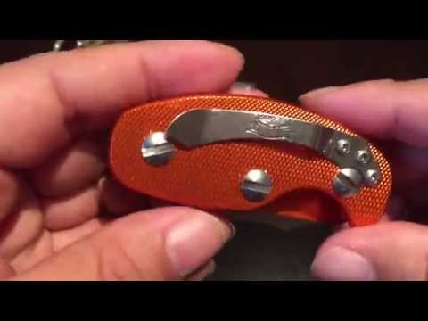 Orange Anodized Aluminum Key Holder Clip Folder Pocket Tool