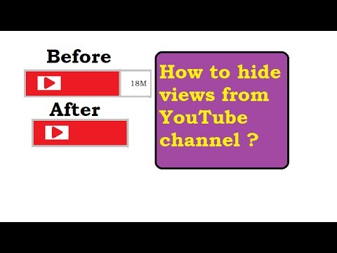 How to hide views of your YouTube channel ?