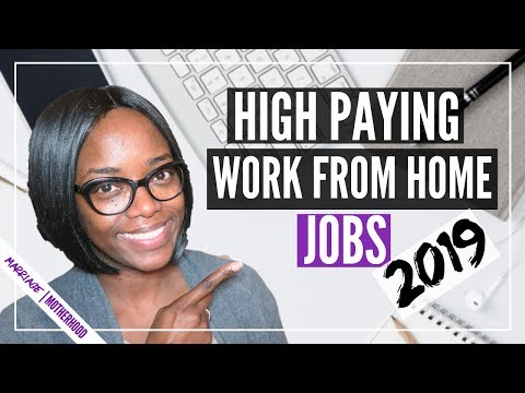 High Paying Work from Home Jobs in 2019