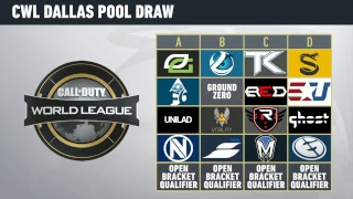 CWL Dallas Open Group Draw Show