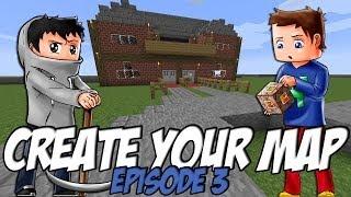 Create Your Map | La Mairie + Explication sur texture | Episode 3 / Minecraft