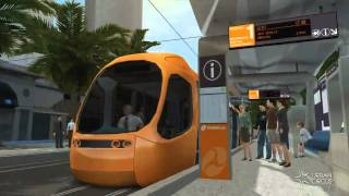 Gold Coast Light Rail (Tram) - Cavill Avenue - Surfers Paradise Australia