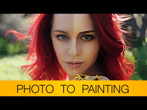 Photoshop Tutorial | Photo to oil painting/cartoon (+Bonus action file in description)