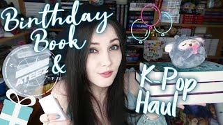 BIRTHDAY BOOK + K-POP HAUL & ATEEZ LONDON || BT21, MON G, MONSTA X, ATEEZ