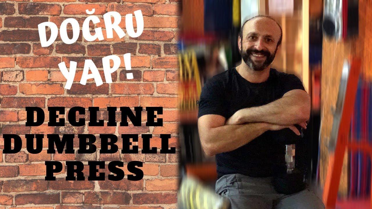 Decline Dumbbell Press hareketi DOĞRU nasıl yapılır? Adım adım ayrıntılı anlatım!