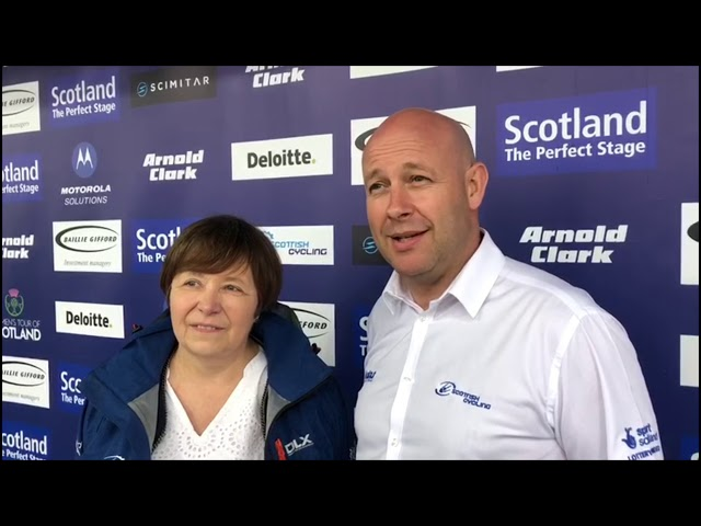 Craig Burn and Kathy Gilchrist of Scottish Cycling on the success of the Women's Tour of Scotland