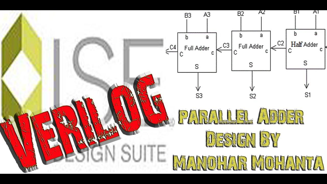 Parallel Adder Using Full And Half In Verilog Language Adders
