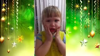 Новогодний макияж. смешные видео про детей