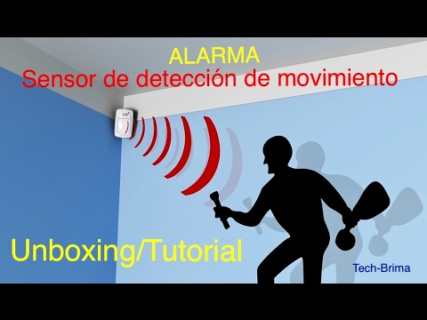 Alarma con sensor de movimiento unboxing tutorial youtube for Sensor de movimiento con alarma