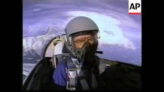 USA: 77 YEAR OLD JOHN GLENN PREPARES FOR SPACE SHUTTLE MISSION