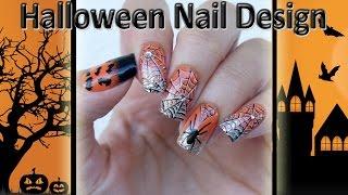 Halloween nail design / Хэллоуин дизайн ногтей