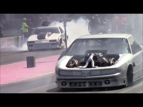 "Street Outlaws New Orleans ""John Doe"" vs Silver Unit Racing at AOL"