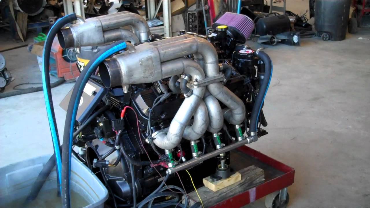 Malibu Indmar GM 8.1 Marine Engine 500 HP - YouTube
