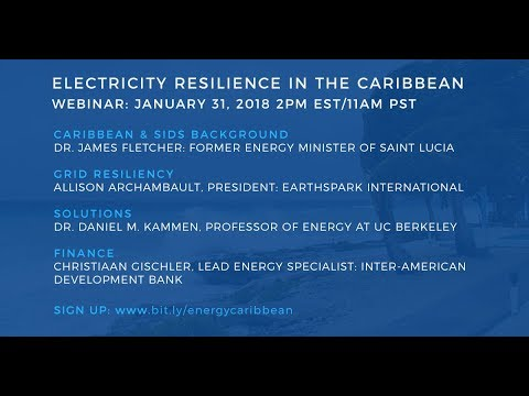 Electricity Resilience in the Caribbean