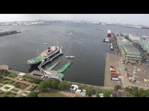 Yokohama City View from Yokohama Marine Tower on July, 2014 (横浜マリンタワーからの眺め)