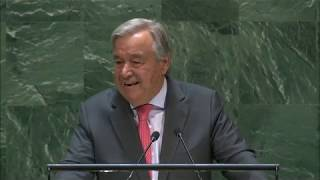 Secretary-General Addresses General Debate, 74th Session Antonio Guterres, United Nations Secretary-General, addresses the general debate of the 74th Session of the General Assembly of the UN (New York, 24 -- 30 ..., From YouTubeVideos