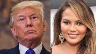 President Donald Trump ATTACKS Chrissy Teigen on Twitter and She's Not Having It
