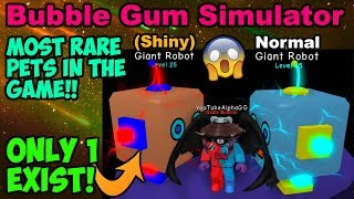 (SHINY) GIANT ROBOT & NORMAL GIANT ROBOT!! (Bubble Gum Simulator Roblox)