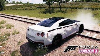 Nissan GTR Spor Araba İle Treni Bulmaya Çalışıyoruz! Forza 3 Araba Oyunu