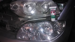 Fiat Punto 2 Headlights restoration - sonax scratch remover polish