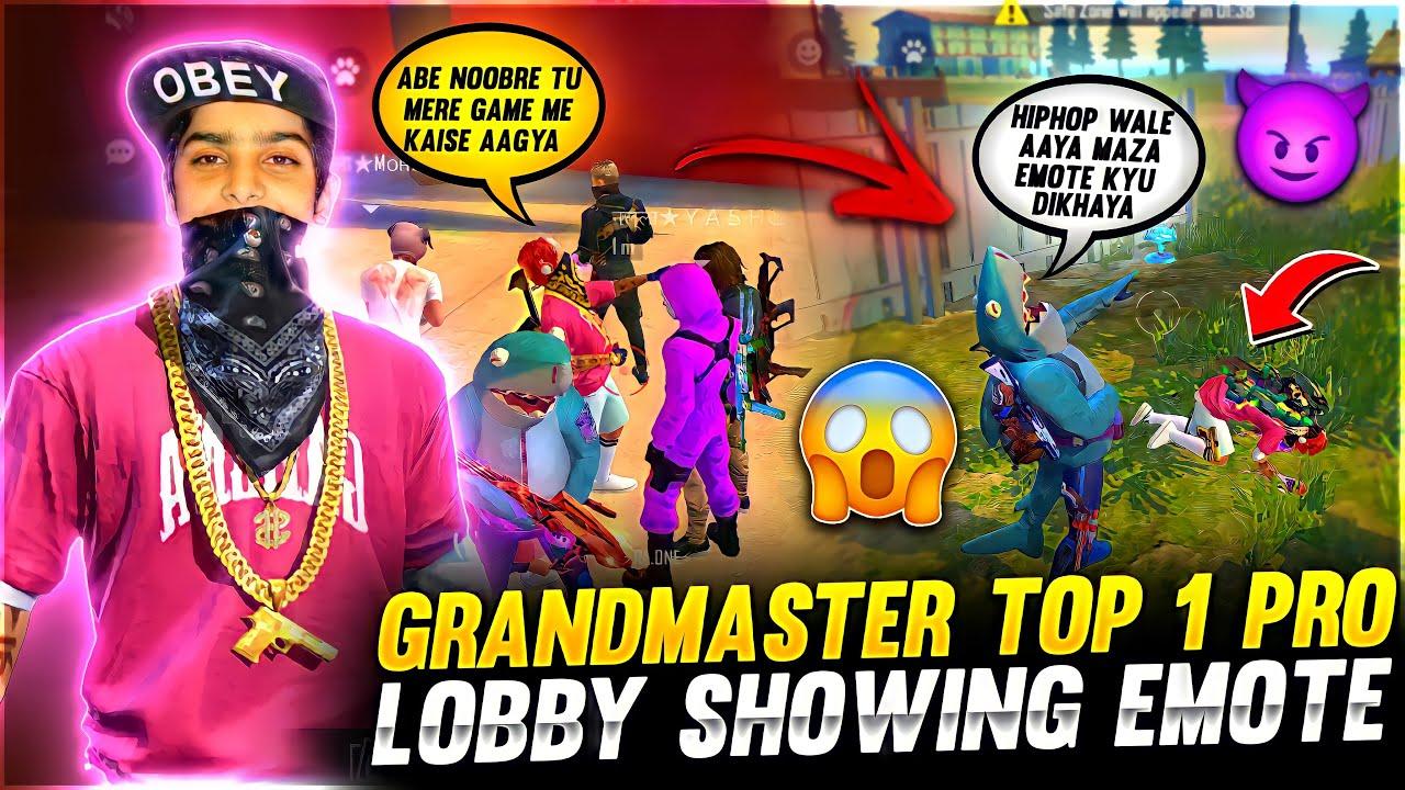 Grandmaster Top 1 Pro Lobby Hiphop Bundle Showing Emote ❤️🤯 - Last Zone 30 Alive - Garena Fire