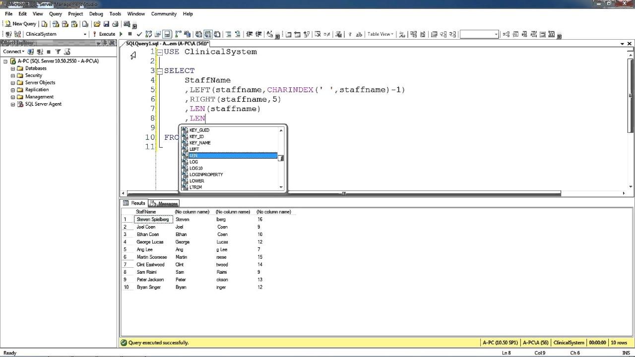 SQL Basics Part-6 Concatenation of Strings - YouTube
