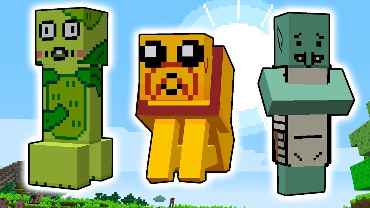 Hora De Aventura Para Minecraft Personajes Texturas Cosas épicas Rabahrex Youtube