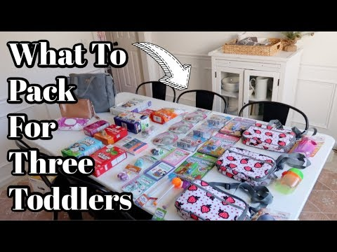Road Trip With Three Toddlers | Pack With Me | What To Pack For Toddlers