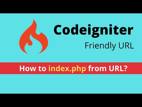 CodeIgniter Tutorial | Remove Index.php From URL | .htaccess