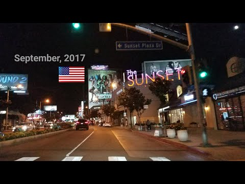 West Hollywood​ Billboard Row Monthly Update. September, 2017. Los Angeles Driving Tour