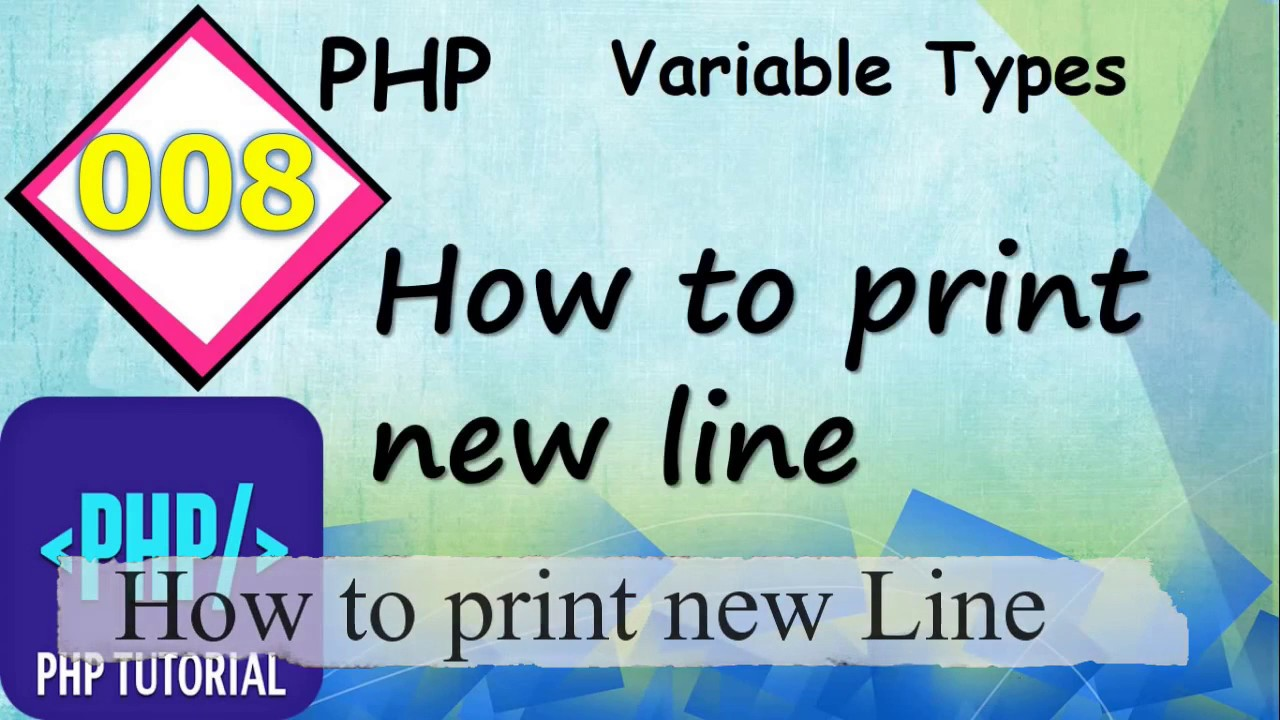 How to print new line in PHP (HINDI) #008 || Engineering - Portal