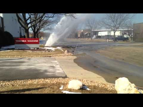 Water main break in Elk Grove Village