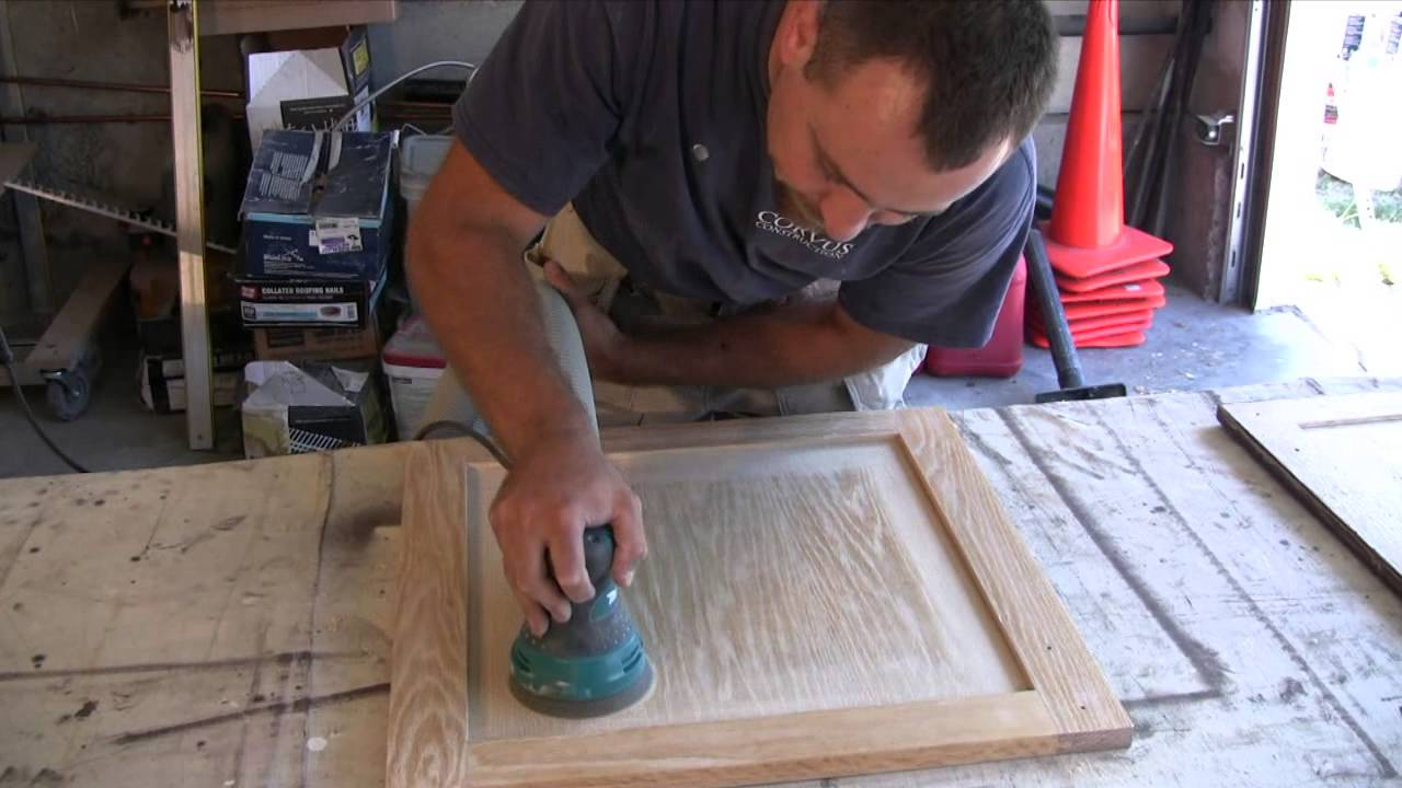 & Cabinet refinishing (Frame and Panel Doors) - YouTube