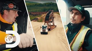 Crew Takes Huge Risk Moving Big Red On A Flatbed | Gold Rush