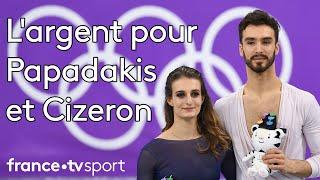 JO 2018 : Patinage artistique - Danse libre. L'argent pour Gabriella Papadakis et Guillaume Cizeron