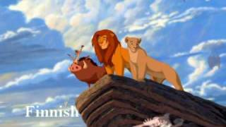The Lion King Circle of Life reprise multilanguage (20 different languages)