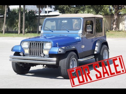 jeep wrangler sport 39 94 4x4 up for sale youtube. Black Bedroom Furniture Sets. Home Design Ideas