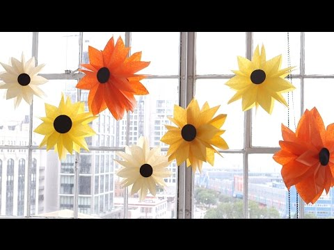 DIY Paper Bag Flowers