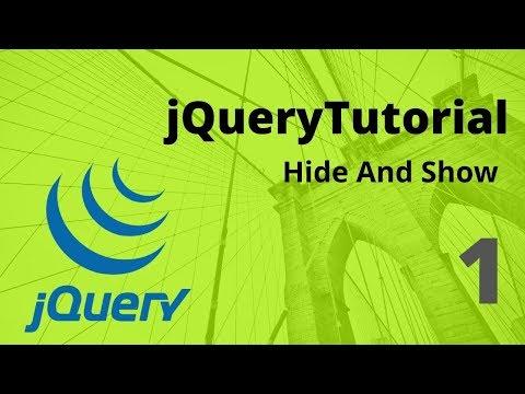 jquary hide and show - jquery bangla tutorial- Zia Tech thumbnail