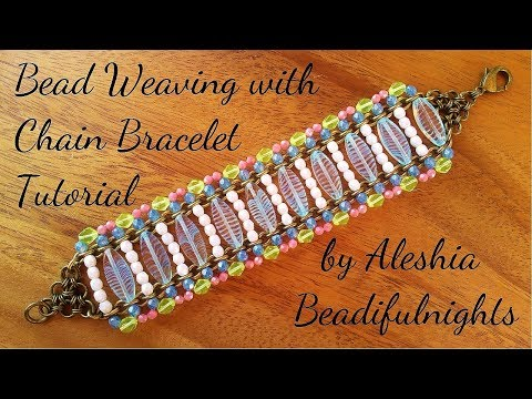 Bead Weaving with Chain Bracelet Tutorial