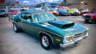 Test Drive 1974 Plymouth Satellite Sebring Built 440 SOLD $16,900 Maple Motors #506-1