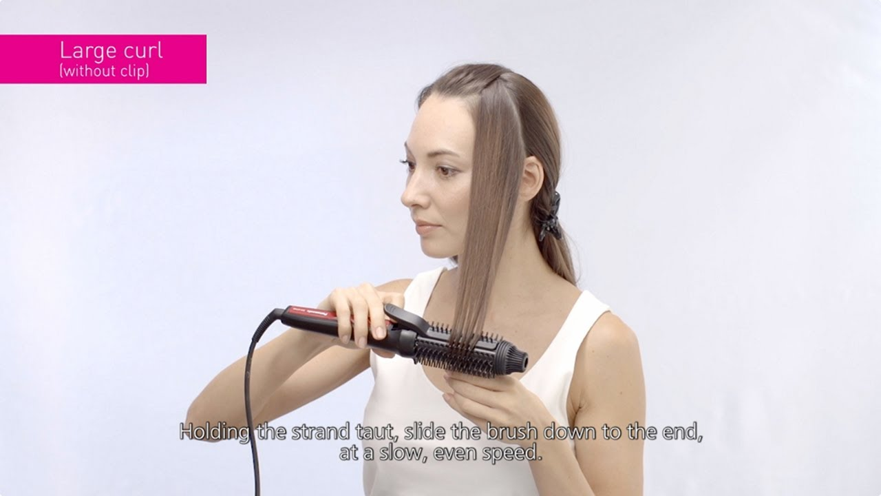 how to style hair with brush how to use panasonic styling brush iron eh ht40 2495