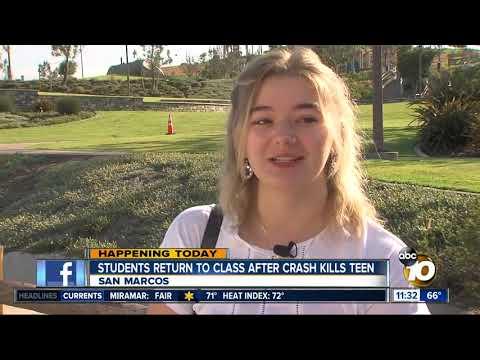 Classmates react to tragic crash near Mission Hills High