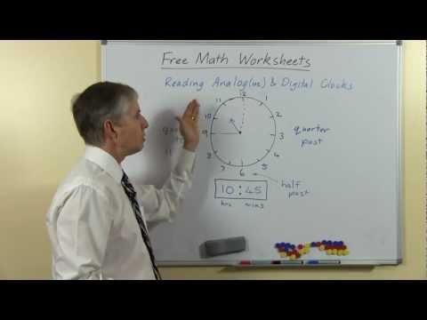 Learn to Read Analog and Digital Clocks