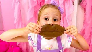 Nastya hace buenas acciones y papá la recompensa con dulces
