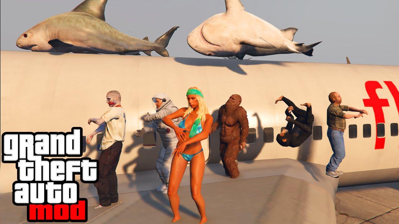 GTA 5 PC Mods - BEST MODS GAMEPLAY! Zombies, Rainbow Car ...