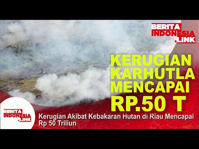 Akibar Kebakaran Hutan  kerugian hingga Rp 50 Triliun,